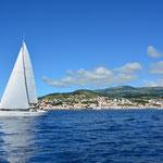 Auf den Azoren Segeln
