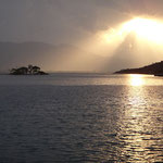 Sonnenuntergang bei Poros
