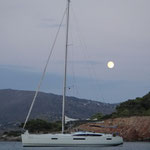 Vollmond beim Segeln in Griechenland