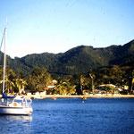 Ankern in der Bucht Grande Anse d'Arlet auf Martinique