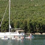 Dinghy Race in Kroatien