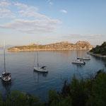 Baden im September in Griechenland