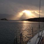 Abendstimmung auf der Yacht