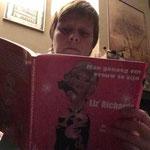 Sabrina met haar boek