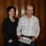 Anderas Schleiss mit Frau Karin, neu gewähltes Ehrenmitglied