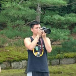 Shooting by single lens reflex camera in Nijo Castle !