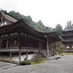 Main hall and three-storied pagoda