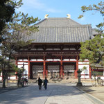 Nandai-mon Gate, Chumon Gate, Kon-do Hall were all in a line in a north to south direction,