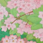 うつぎとのいばら  oil on japanese paper,panel  25×85cm