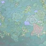 真珠星 oil on japanese paper,panel  32×41cm
