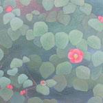 春雷  oil on japanese paper,panel  25×30cm