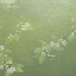 蚕起食桑 oil on japanesepaper,panel 60.5×72.8cm