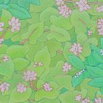 玄鳥去  oil on japanese paper,panel  25×50cm