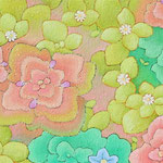 はるのまい  oil on japanese paper,panel  25×85cm