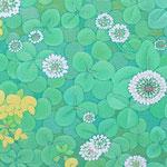 竹笋生  oil on japanese paper,panel  25×50cm