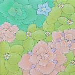 玄鳥至  oil on japanese paper,panel  15×15cm