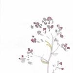 大根花 japanese ink,watercolor,paper  25.7×18.2cm