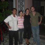 The four of us in front of Thanh Xuan