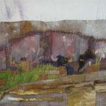 Landschaft, Mischtechnik, 80 x 60