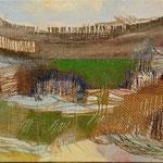 Landschaft, Mischtechnik, 51 x 28