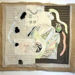 Wesen, Stoffcollage, 114 x 100