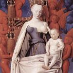 Vierge à l'enfant entourés d'angelots - format: 50,8 cm x 56,31cm