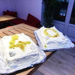 Chiffon cake au pandan chantilly