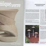 « Champignons géants », La Revue de la Céramique et du Verre - juillet 2019