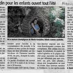 « In-situ : un jardin pour les enfants », Jardin médiéval, Midi-Libre - juillet 2016