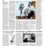 « L'architecture du vivant, quintessence de ses recherches », « Ses lichens révèlent un monde fascinant »,  « En Camargue, guidées par la matière », Midi Libre - mars 2021