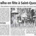 « Terralha en fête à Saint-Quentin », photo d'installation Alice, Midi-Libre - juillet 2015