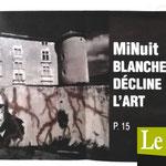 « MiNuit Blanche décline l'art », Photo de couverture, Le Républicain d'Uzès - septembre 2019