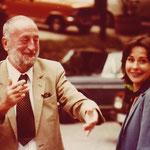 Joachim Tettenborn mit seiner Tochter Sabine, die als Produktionsassistentin tätig war