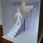 maquette projet escalier meuble