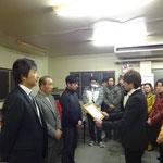 社員代表 決意表明 第一工場 小林課長