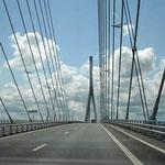 """Die """"Pont de Normandie"""" - hoch über der Seine"""