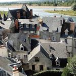 Blick vom Schloss auf die Stadt Amboise