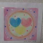 瞑想会でイメージした3つの光☆K.Hさんの作品です。パワフル!!!