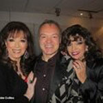 JOAN & JACKIE WITH GRAHAM NORTON BACKSTAGE DECEMBER 10TH 2013