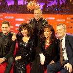 JOAN & JACKIE WITH MICHAEL BUBLE & FRANK SKINNER ON THE GRAHAM NORTON NEW YEARS EVE SPECIAL DECEMBER 10TH 2013