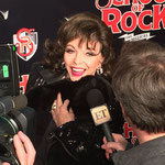 Joan attends the first night of 'School of Rock The Musical' at The Winter Gardens New York