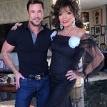 Joan with stylist Rene Horsch during a photo shoot at her Los Angeles Apartment