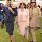 Joan with Jerry Hall & Stefanie Powers at The Cartier Queen's Polo Final at The Guard's Polo Club on June 14th 2015