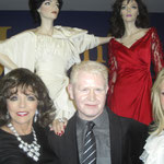 Joan with The Joan Collins Archive creator Mark McMorrow and Kathy Hilton at Julien's Auctions House Beverly Hills for a VIP Preview party for Joan's celebrity auction
