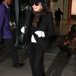 JOAN LEAVES HEATHROW AIRPORT ON HER RETURN TO LONDON FROM LOS ANGELES. JANUARY 30TH 2014