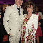 Joan with Bradley Cooper at The Elephant Man VIP Preview at The Haymarket Hotel London May 26th 2015