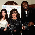 Joan with her UKares Award along with Audley Harrison and Lisa Vanderpump at The British Consul Residence Los Angeles