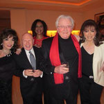 JOAN AT JACKIE'S BEVERLY HILLS HOME FOR DINNER WITH JEFFREY LANE.. LESLIE BRICUSSE & HAZEL COLLINS  JANUARY 2014