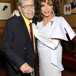 Joan with Jerry Lewis at The Friars Club New York for The Friars Club Tribute To Dame Joan Collins May 4th 2015