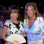Joan with Denise Rich at her annual yacht party in St Tropez July 19th 2015